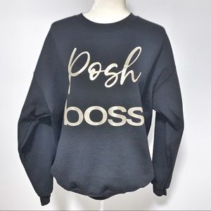 Jet Black • Posh Boss • Sweatshirt  • Gold Foil